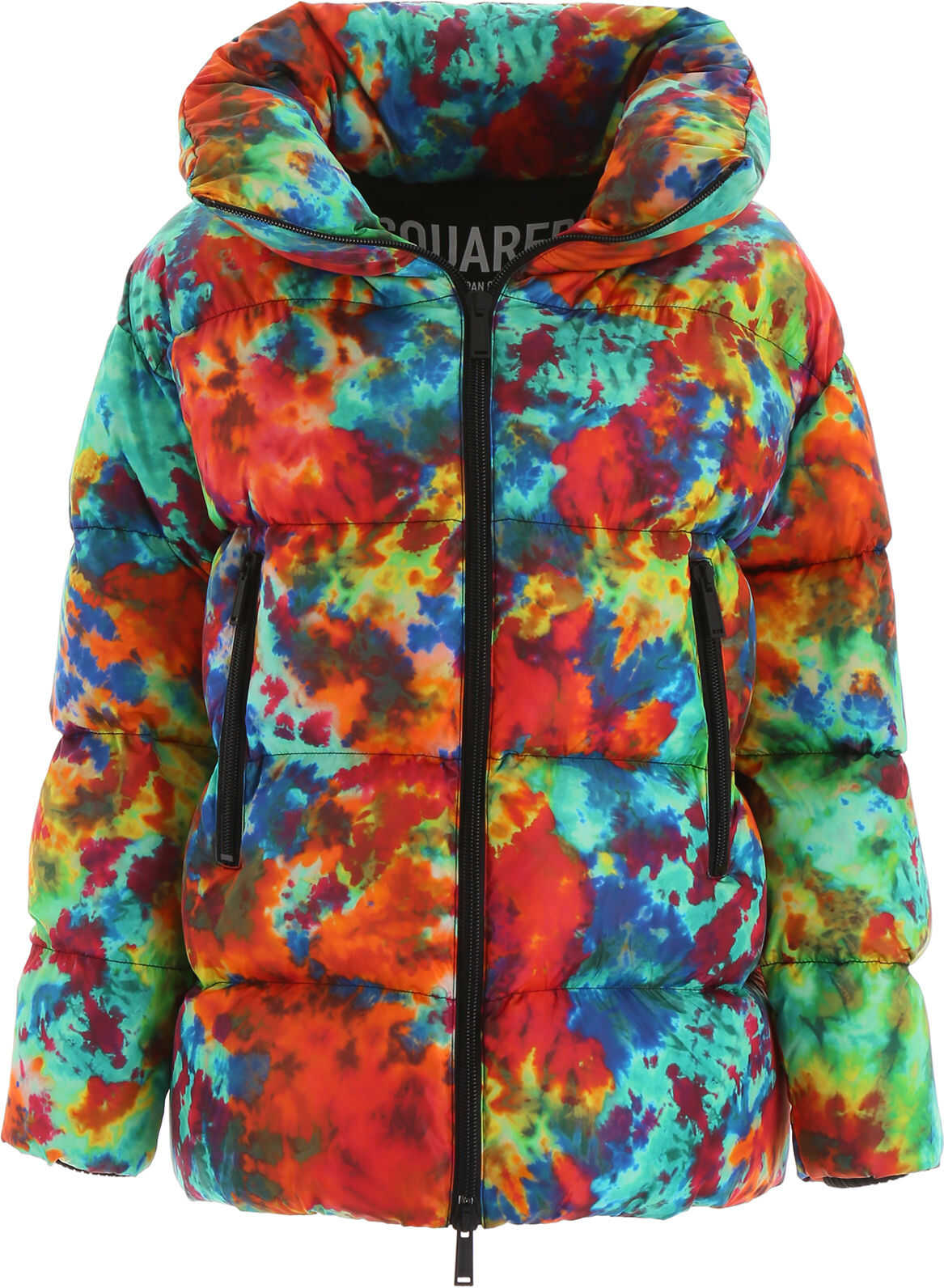 DSQUARED2 Tie Dye Puffer Jacket MULTICOLOUR
