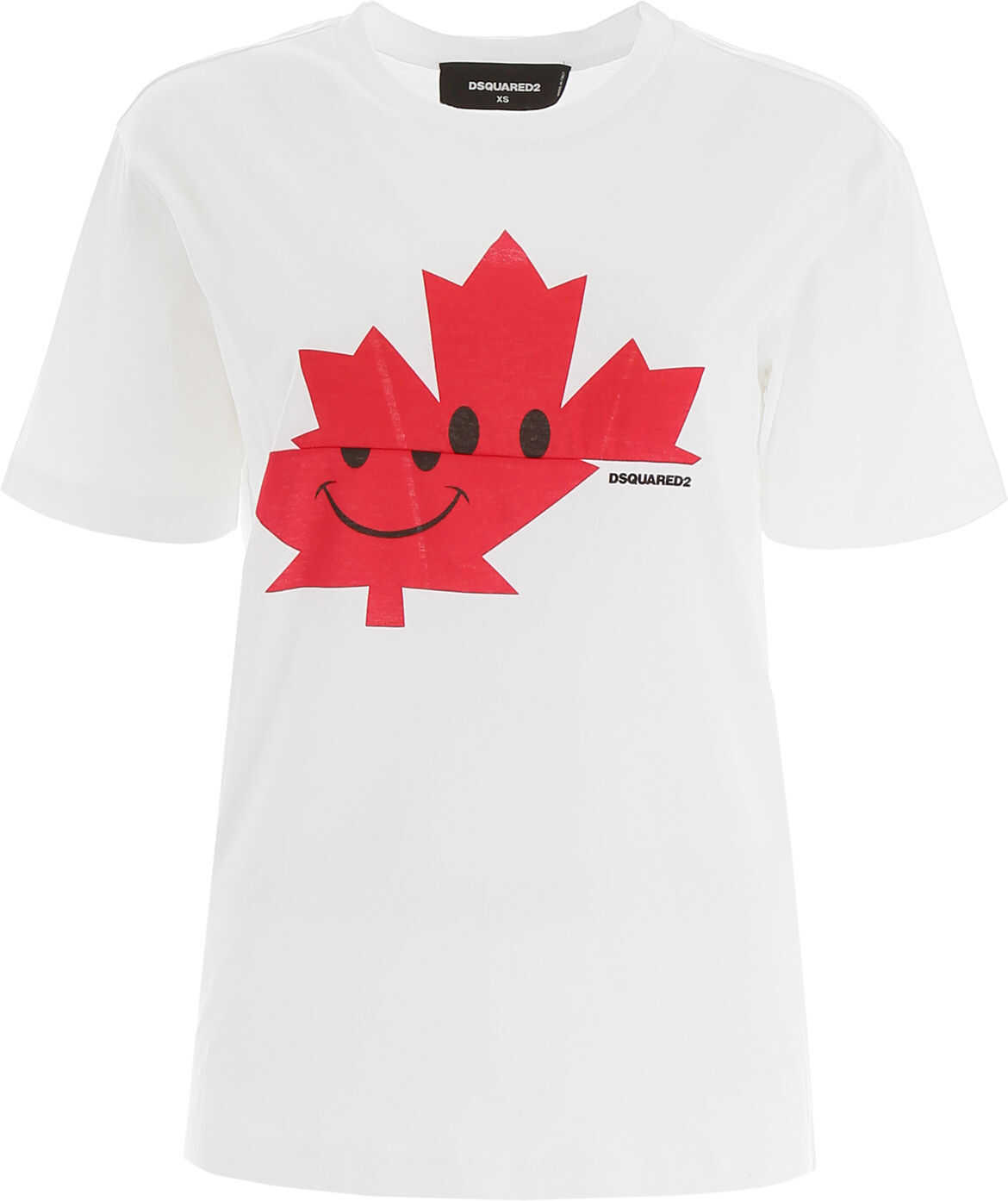 DSQUARED2 Smile Leaf T-Shirt WHITE