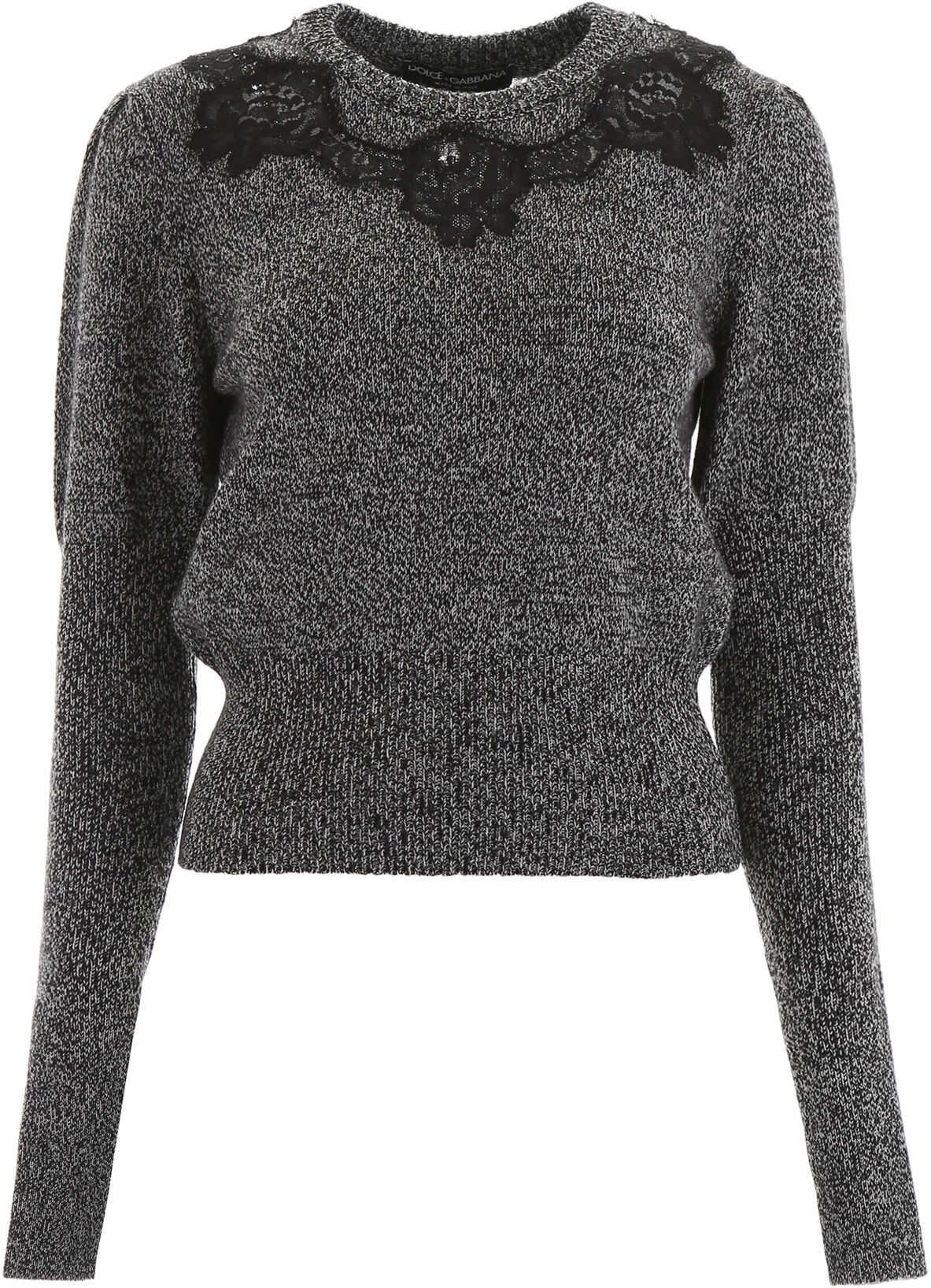 Dolce & Gabbana Pullover With Lace Inserts VARIANTE ABBINATA