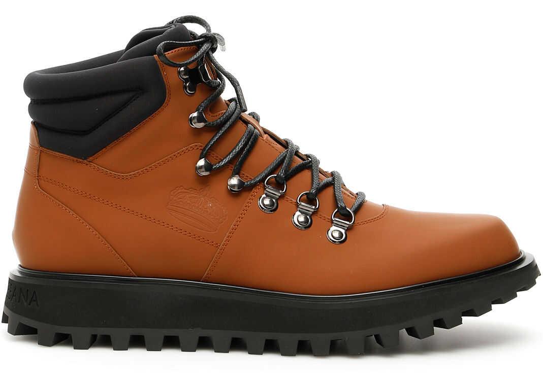 Dolce & Gabbana Vulcano Boots CUOIO NERO