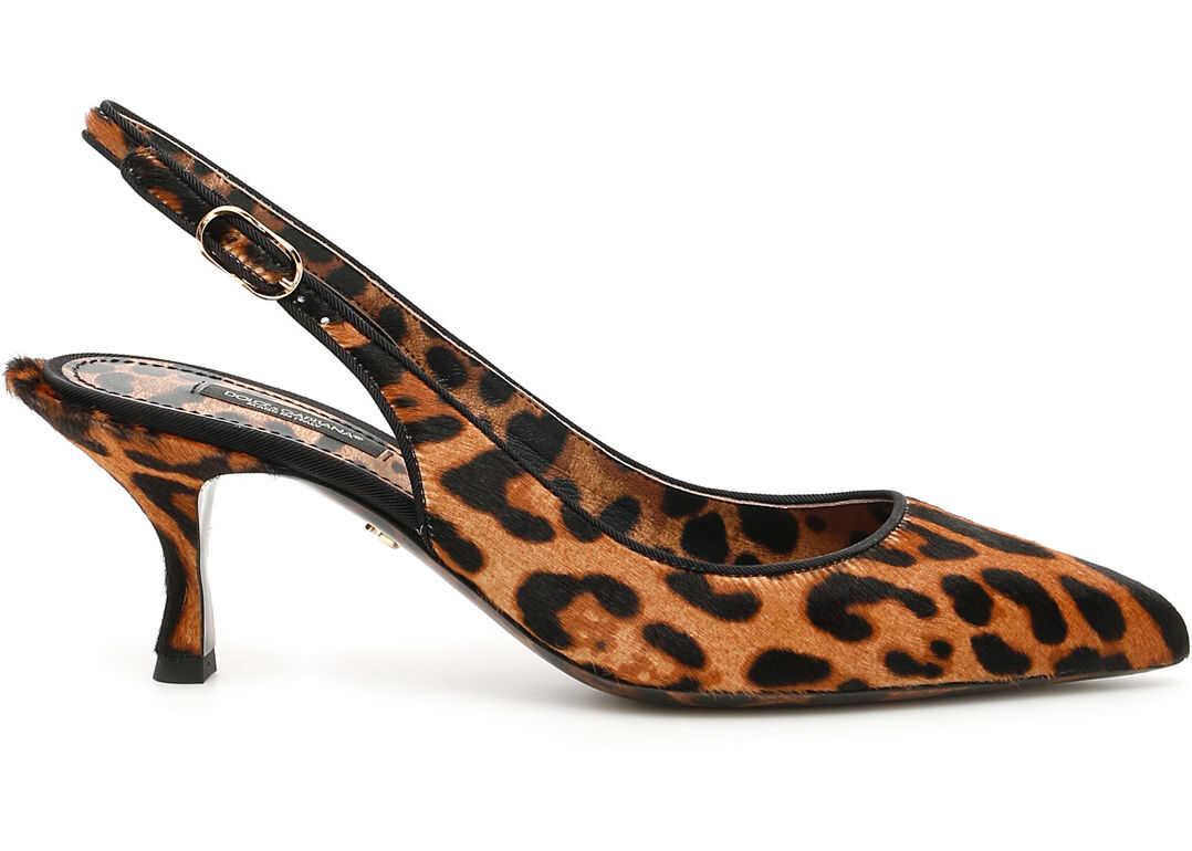 Dolce & Gabbana Leopard Print Lori Slingbacks LEO