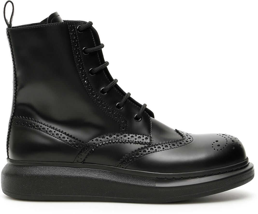 Alexander McQueen Hybrid Boots 586199 WHX51 BLACK imagine b-mall.ro