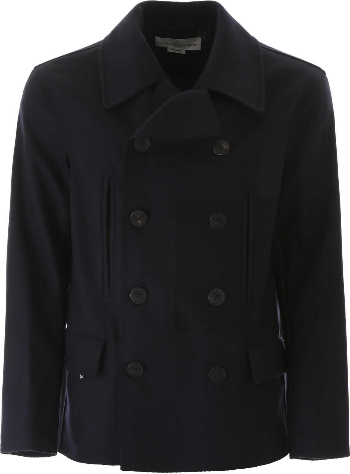 Golden Goose Wool Cloth Pea Coat NAVY