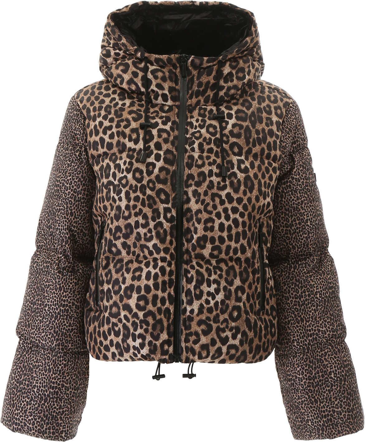 Michael Kors Animalier Puffer Jacket DARK CAMEL