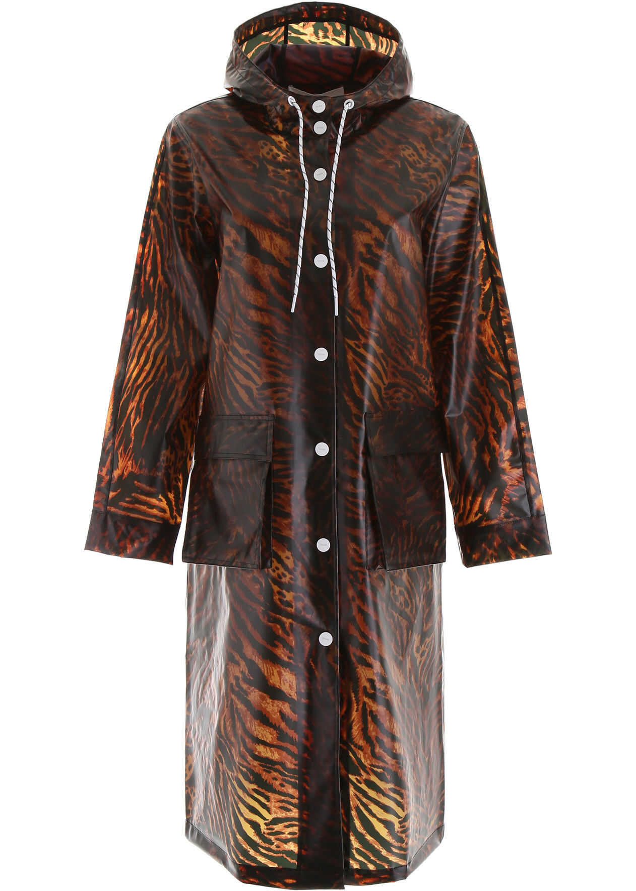 Ganni Tiger Pvc Raincoat TIGER