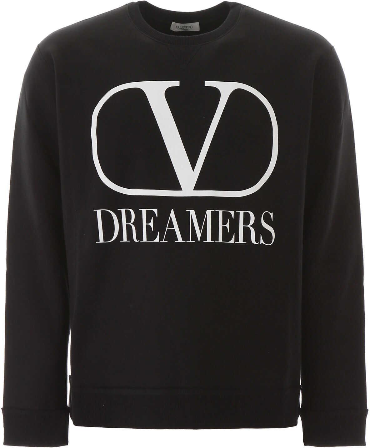 Valentino Garavani V Logo Dreamers Sweatshirt NERO BIANCO
