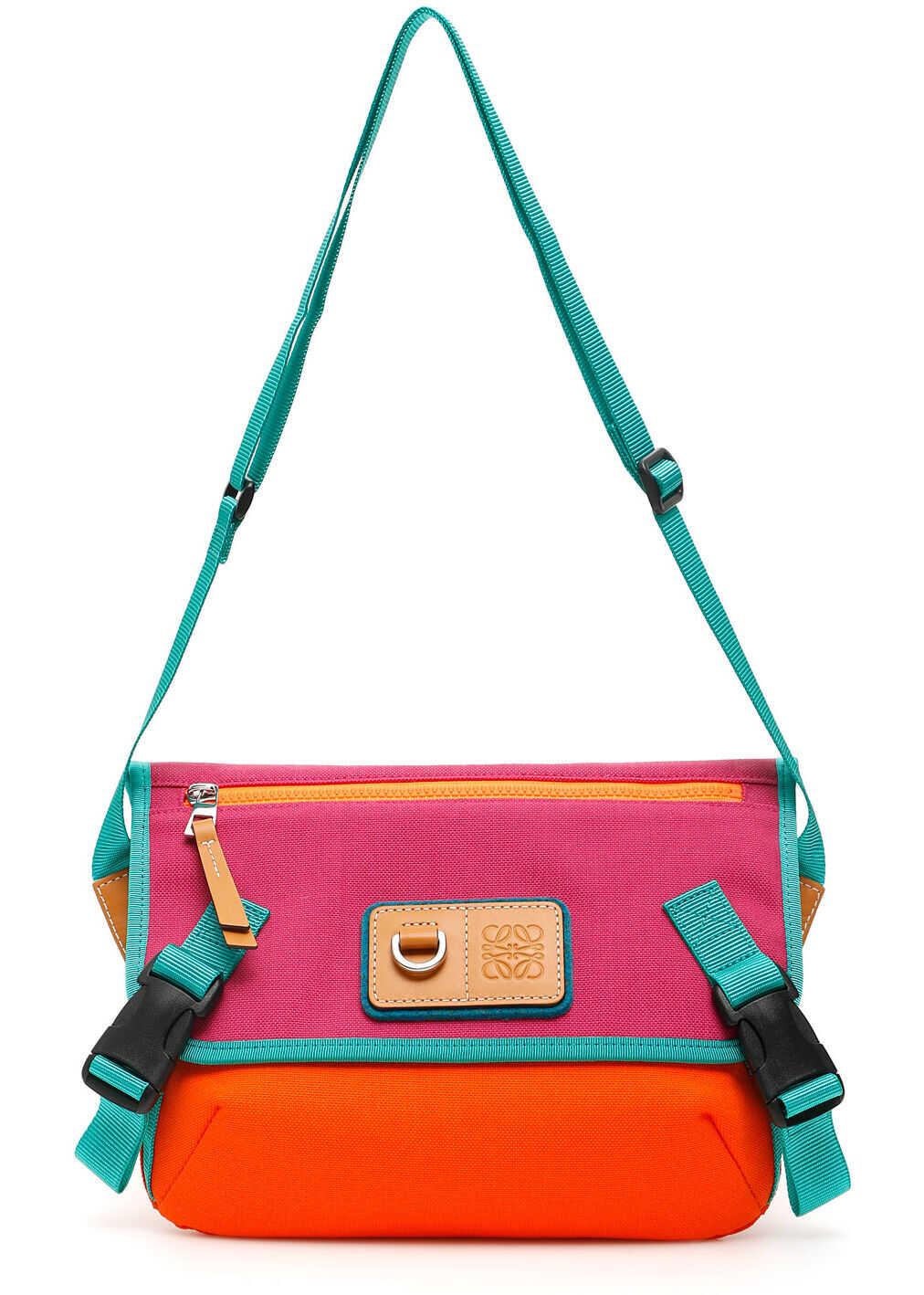 Loewe Eye Nature Messenger Bag 30150AB55 VIOLET ORANGE imagine b-mall.ro