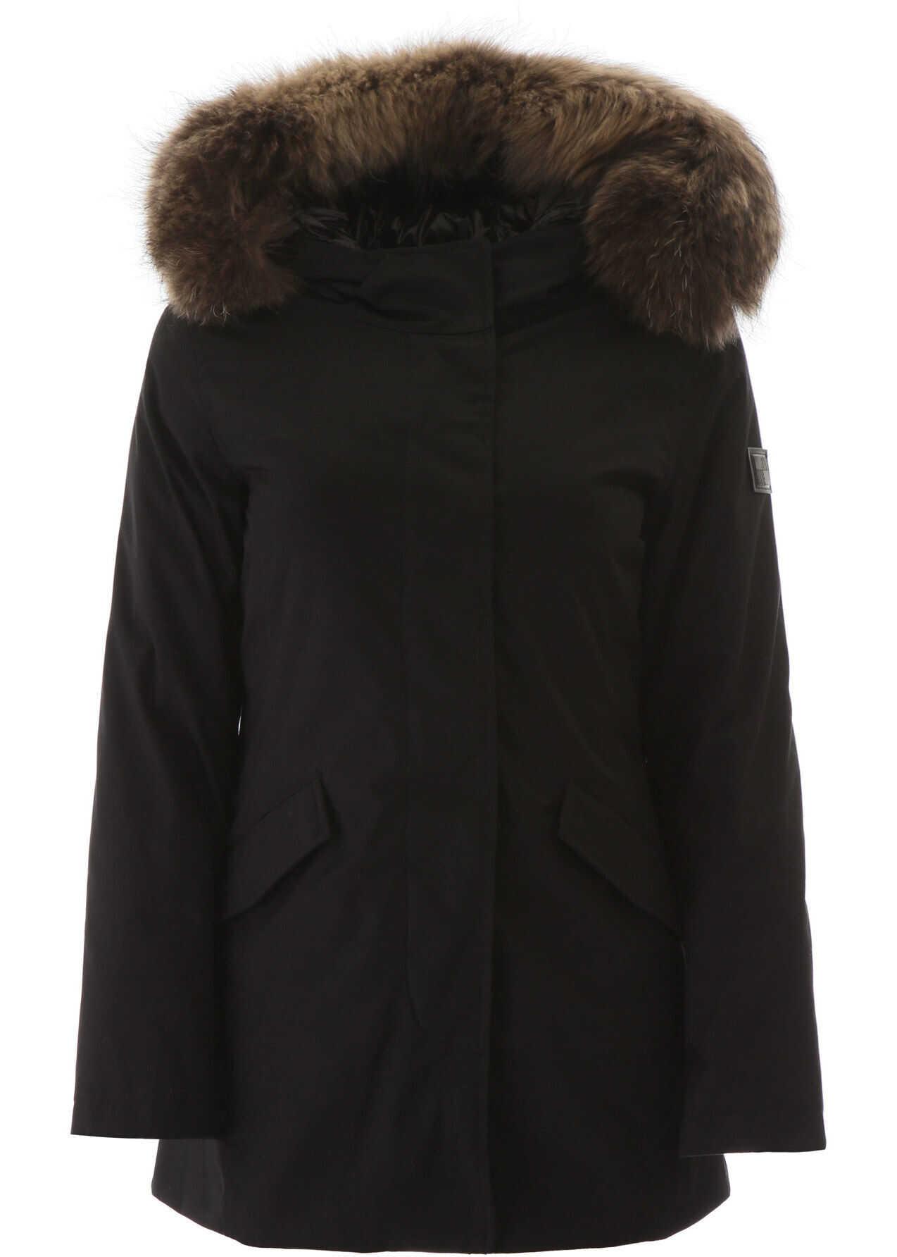 Woolrich Artic Parka With Murmasky Fur BLACK