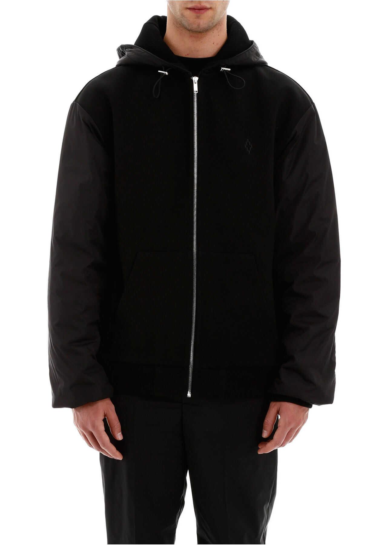 Marcelo Burlon Hooded Bomber Jacket BLACK BLACK