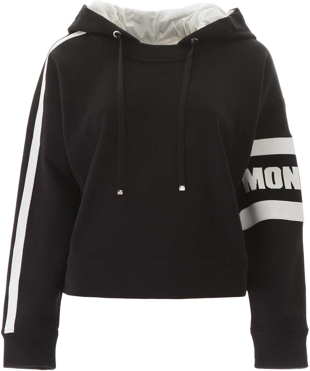 Moncler Basic Hooded Sweatshirt NERO