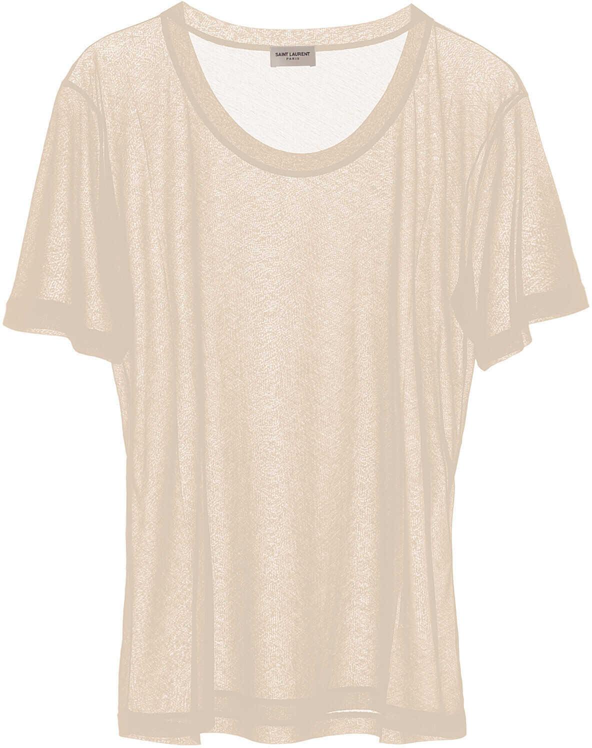 Saint Laurent Basic T-Shirt NUDE
