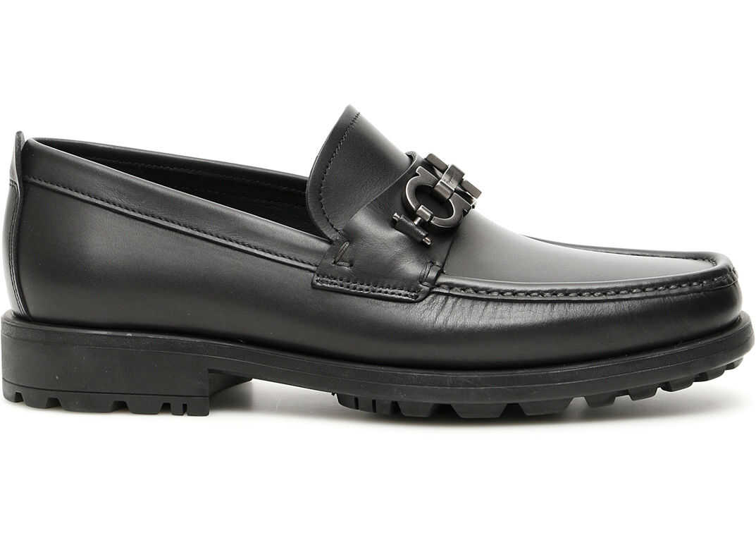 Salvatore Ferragamo David Loafers NERO