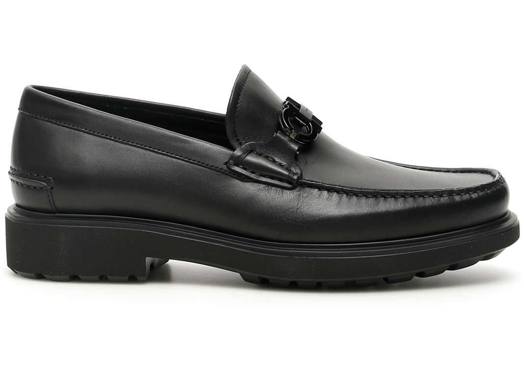 Salvatore Ferragamo Gotham Loafers NERO