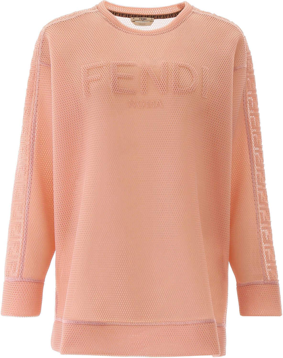 Fendi Mesh Sweatshirt With Logo ROCOCO