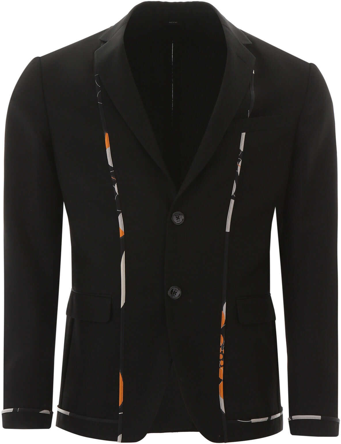 Fendi Kaleido Piping Blazer NERO imagine