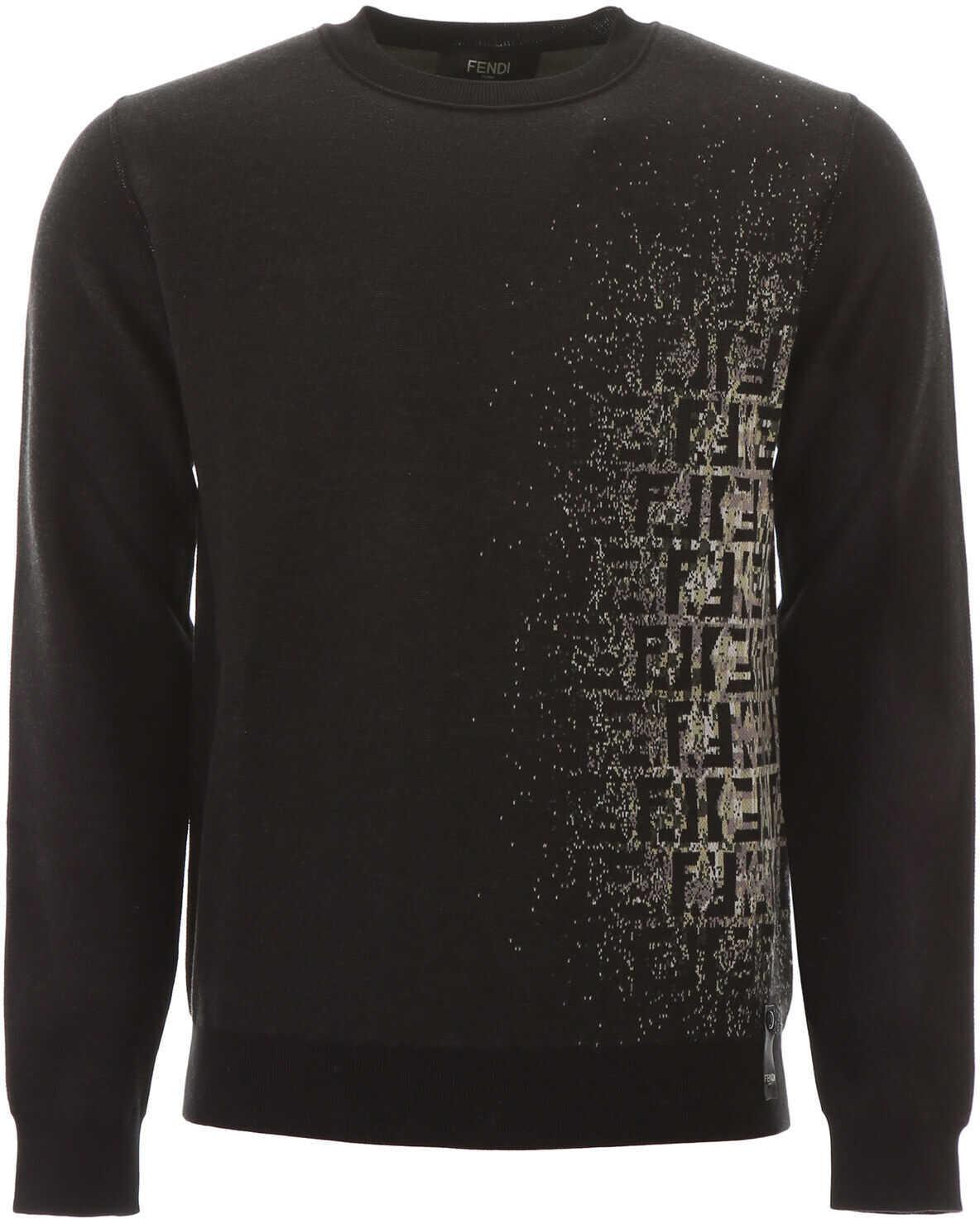 Fendi Pixel Ff Sweater NERO