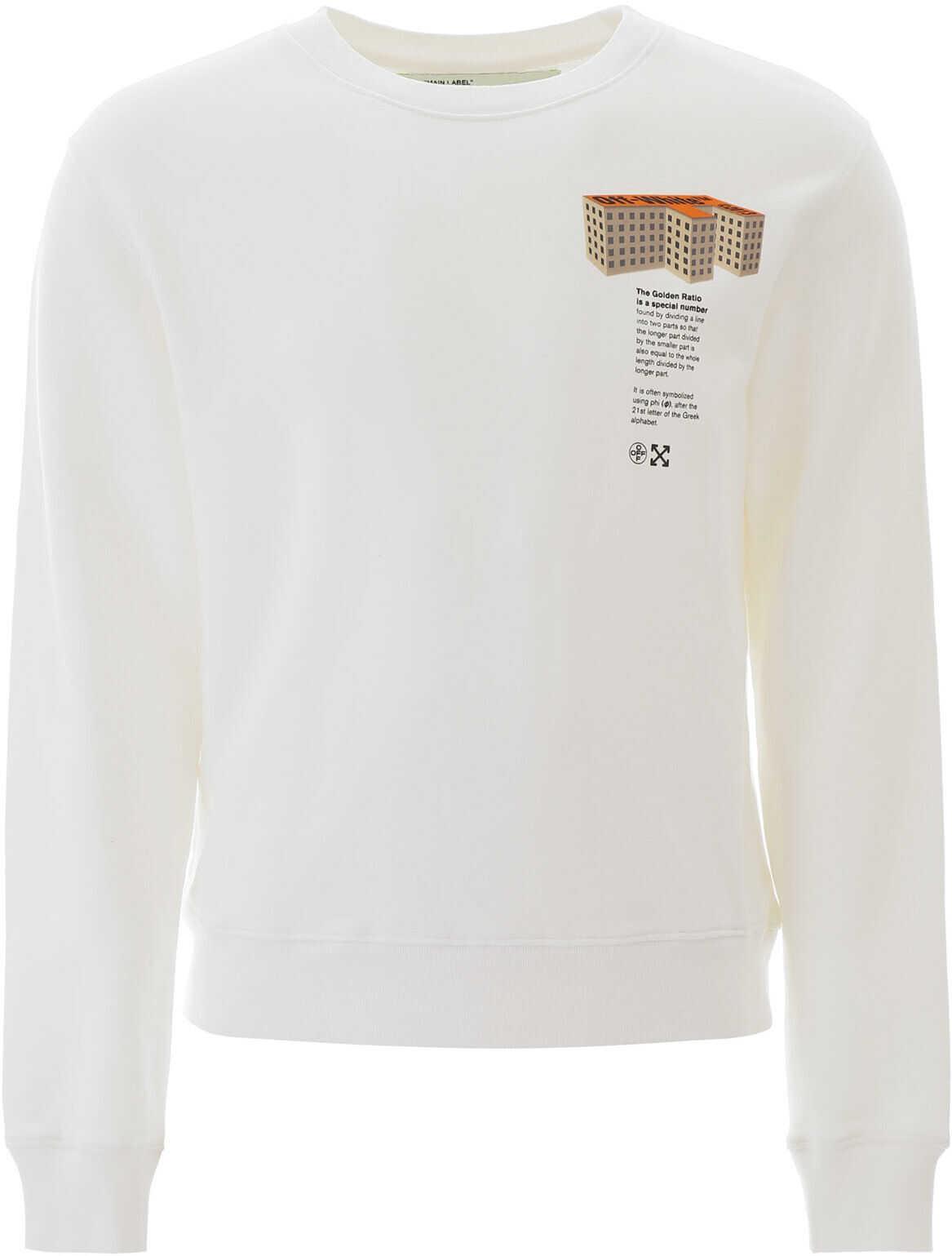 Off-White Building Print Sweatshirt WHITE MULTI