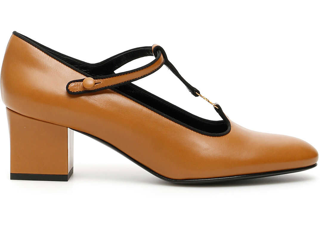 Céline T-Bar Babies Pumps CAMEL BLACK