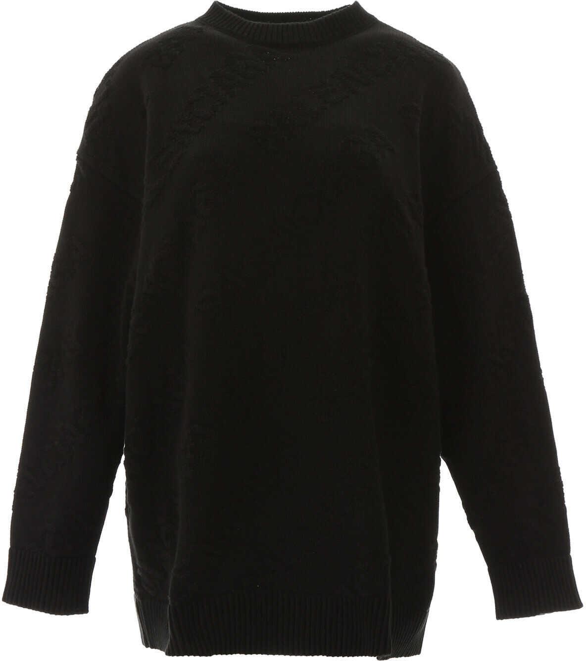 Balenciaga Jacquard Logo Pullover BLACK