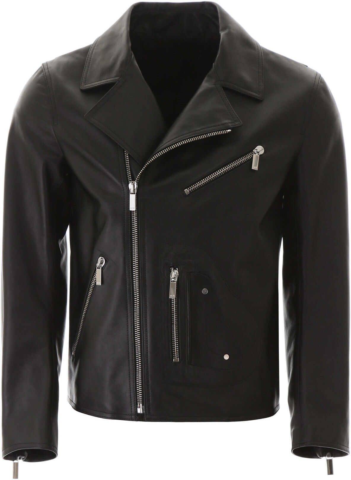Dior Leather Biker Jacket NOIR imagine