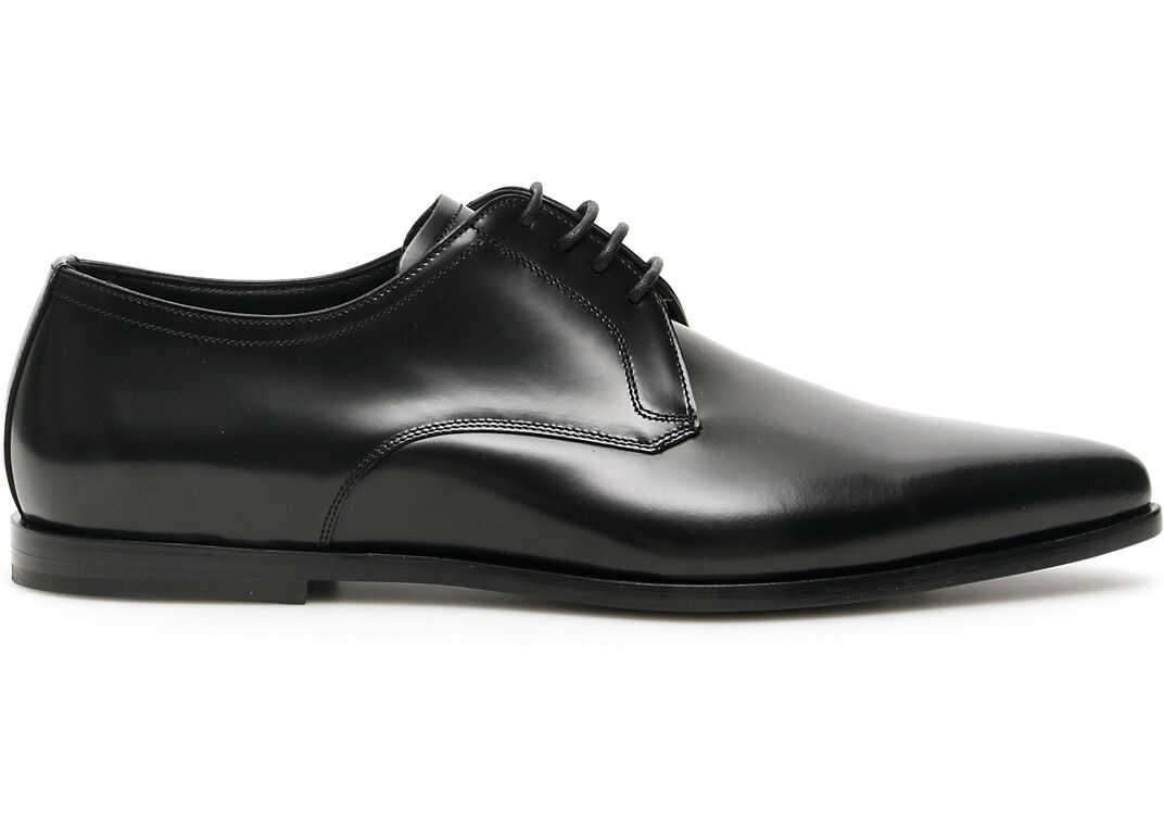 Dolce & Gabbana Paride Derby Shoes A10587 AA384 NERO imagine b-mall.ro