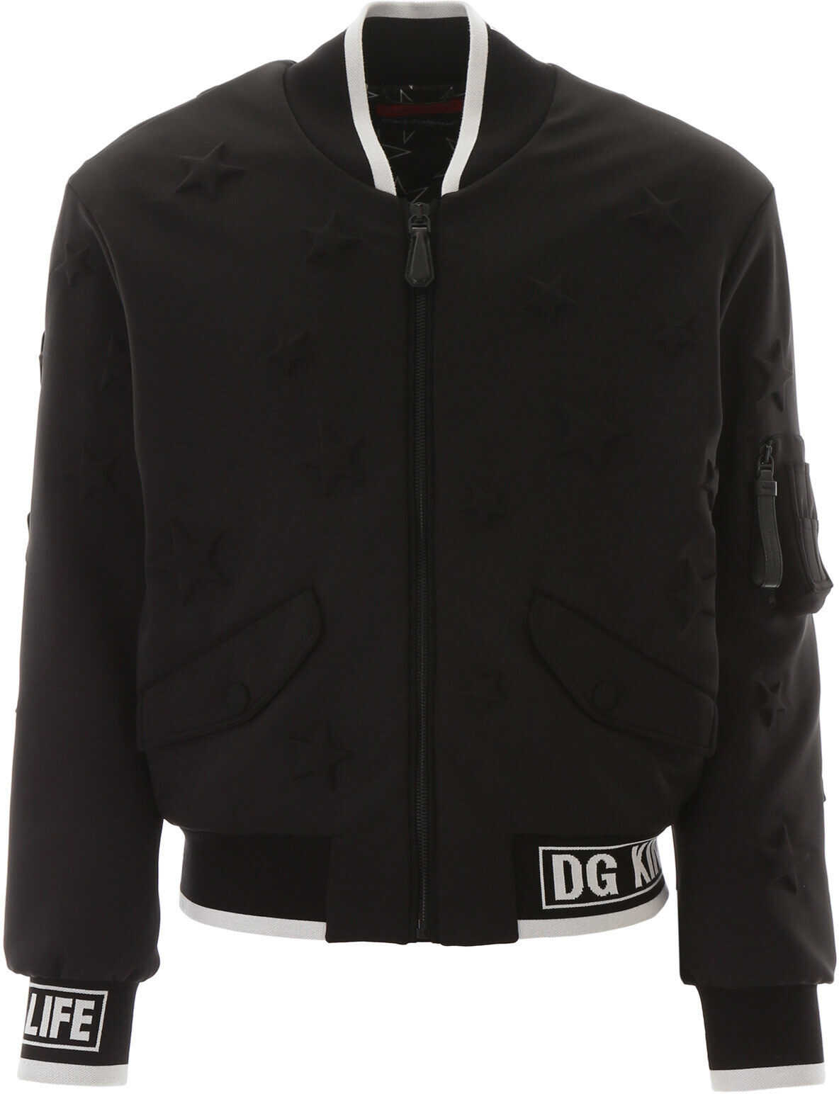 Dolce & Gabbana Dg Millennials Star Bomber Jacket NERO imagine