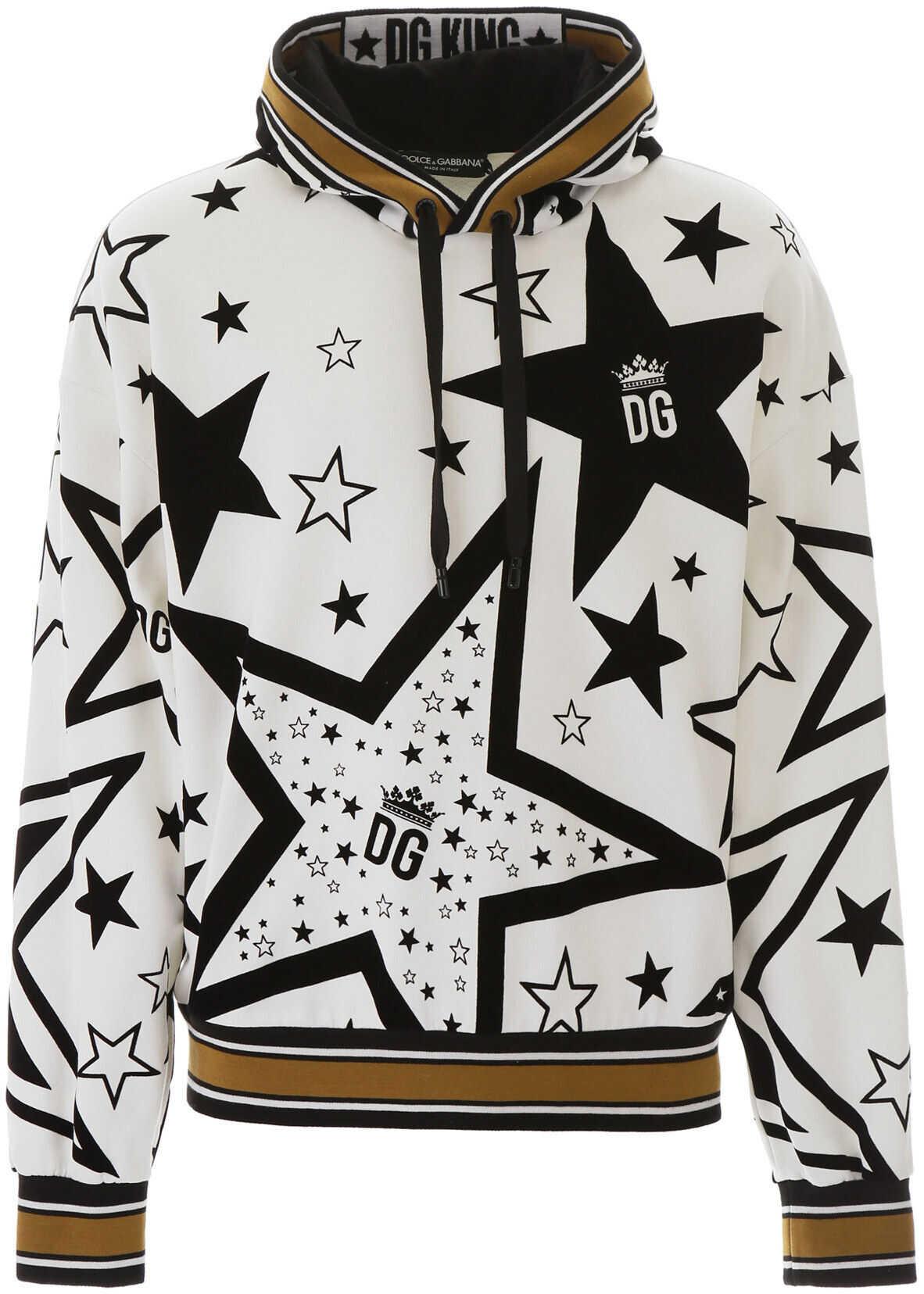 Dolce & Gabbana Millennials Star Hoodie STELLE FDO PANNA