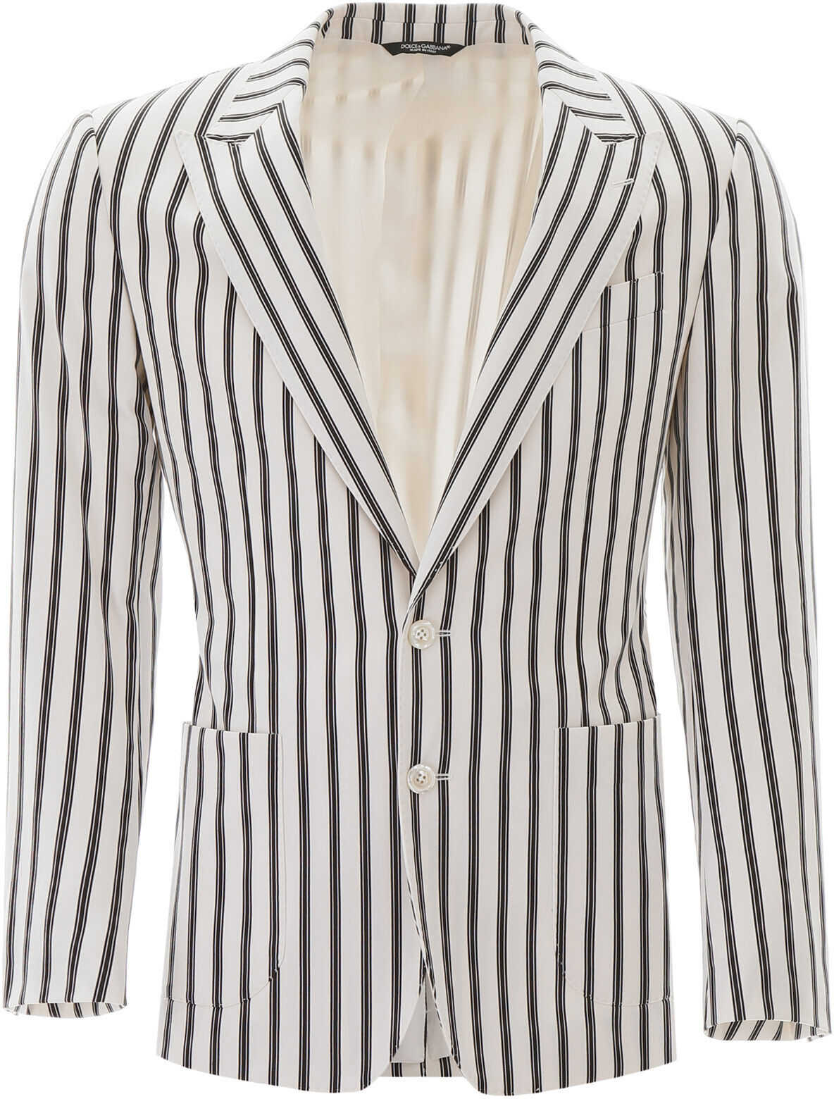 Dolce & Gabbana Striped Tailored Jacket RIGATO imagine