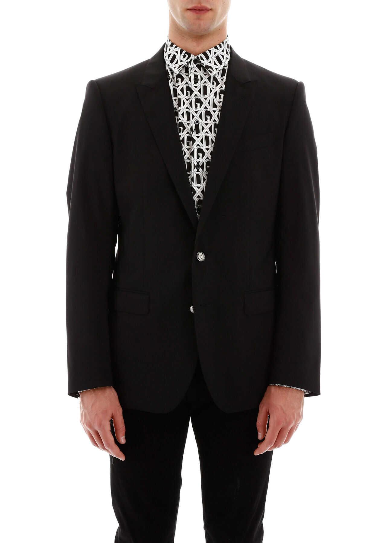 Dolce & Gabbana Martini Jacket NERO imagine