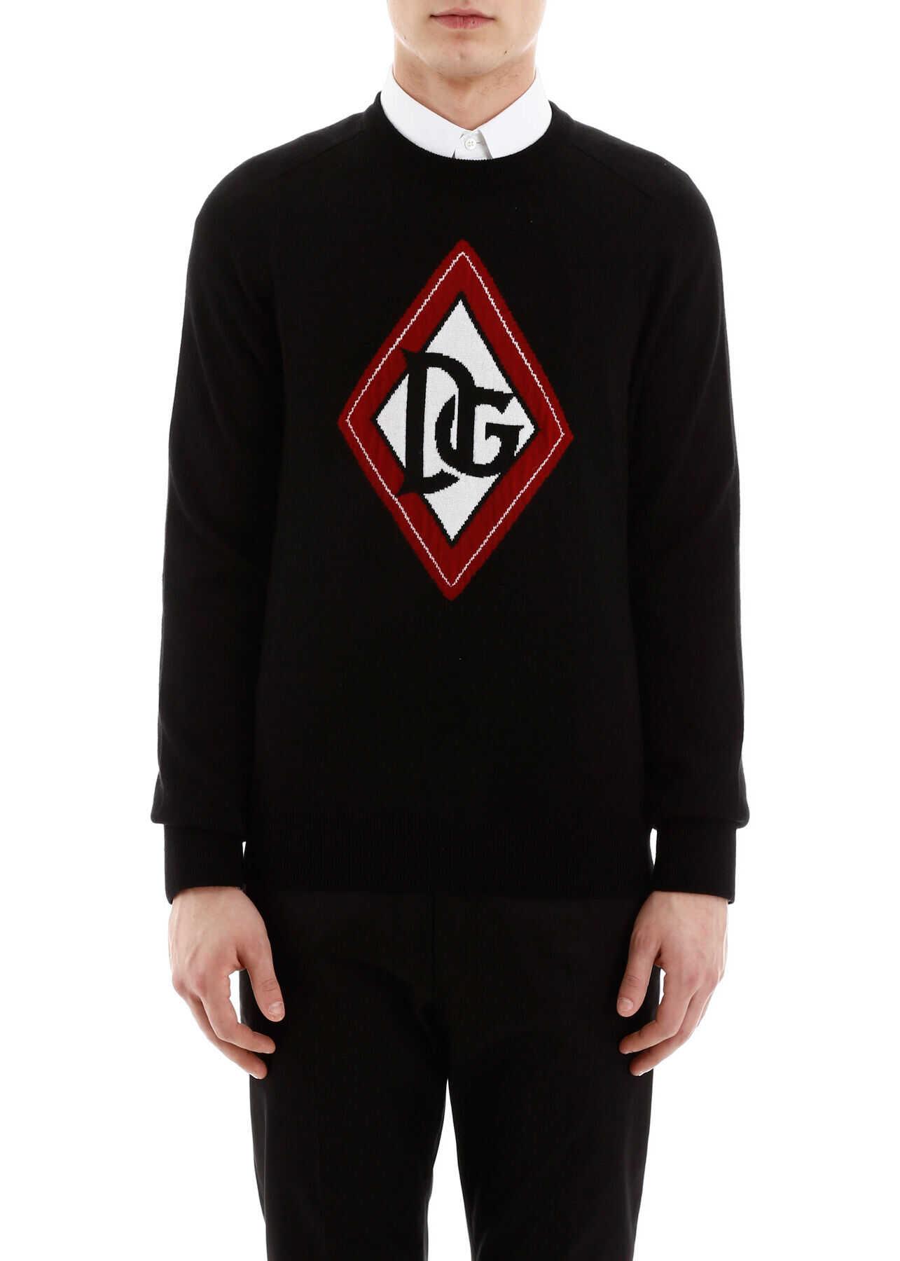 Dolce & Gabbana Pullover With Logo Intarsia VARIANTE ABBINATA imagine