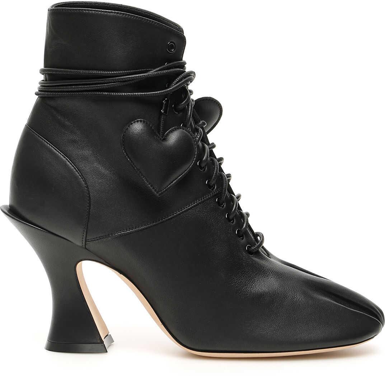 Lanvin Hearts Ankle Boots BLACK
