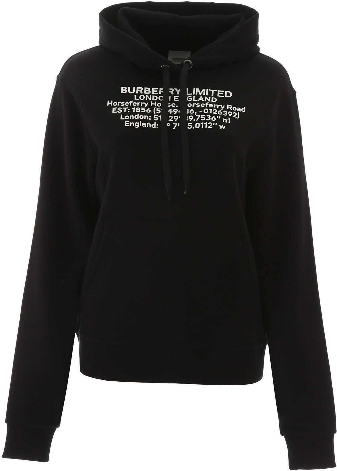 Burberry Poulter Hoodie With Coordinates BLACK