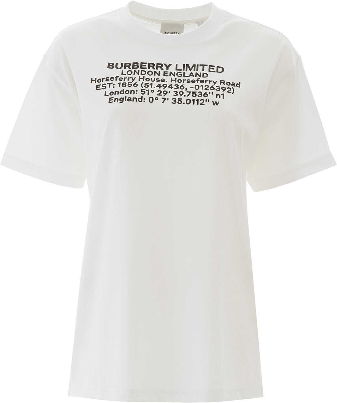 Burberry T-Shirt With Coordinates WHITE