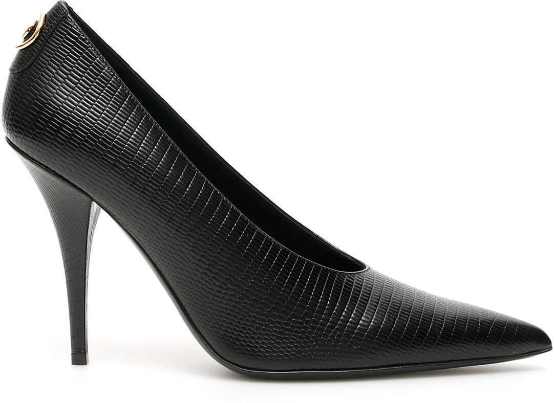 Burberry Eva Button Pumps BLACK
