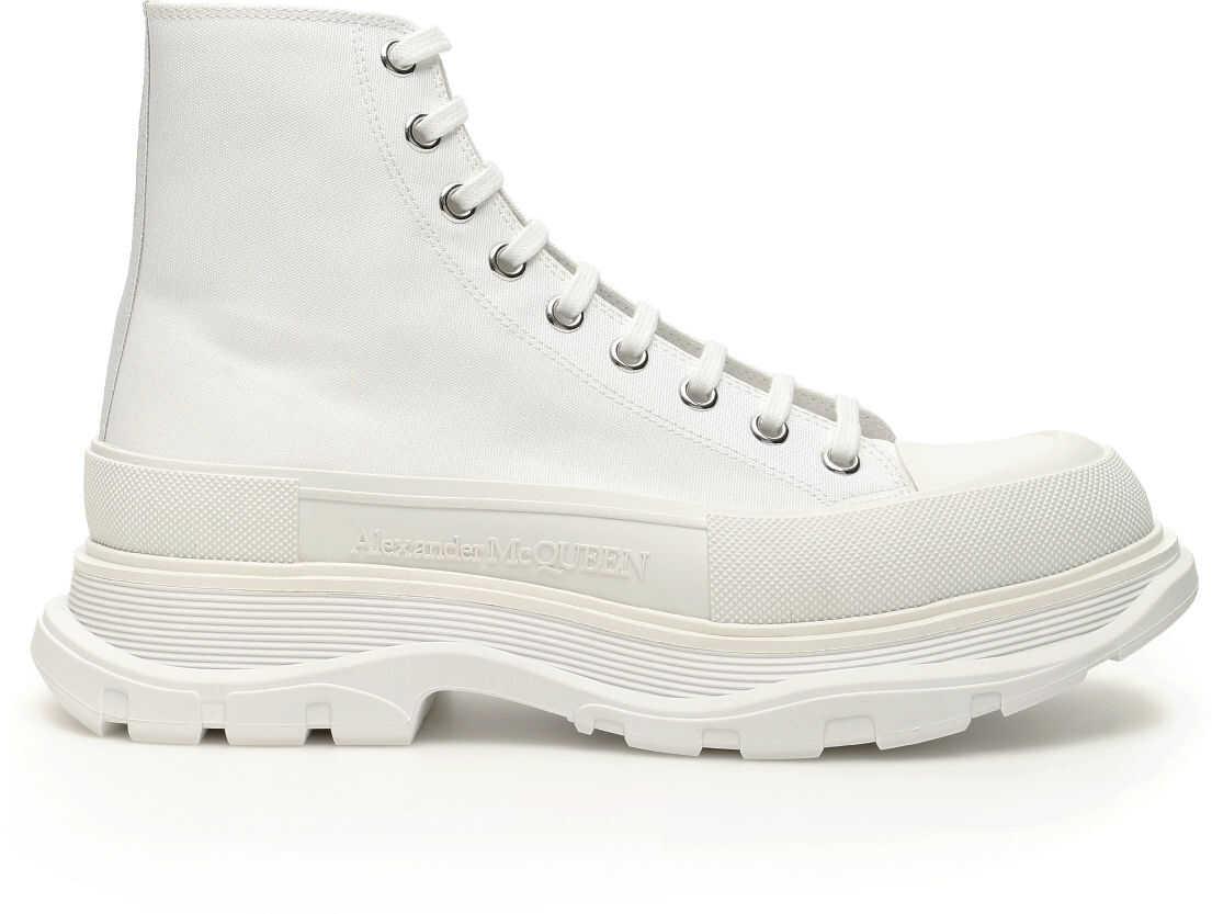 Alexander McQueen Tread Sleek Boots WHITE WHITE WHITE