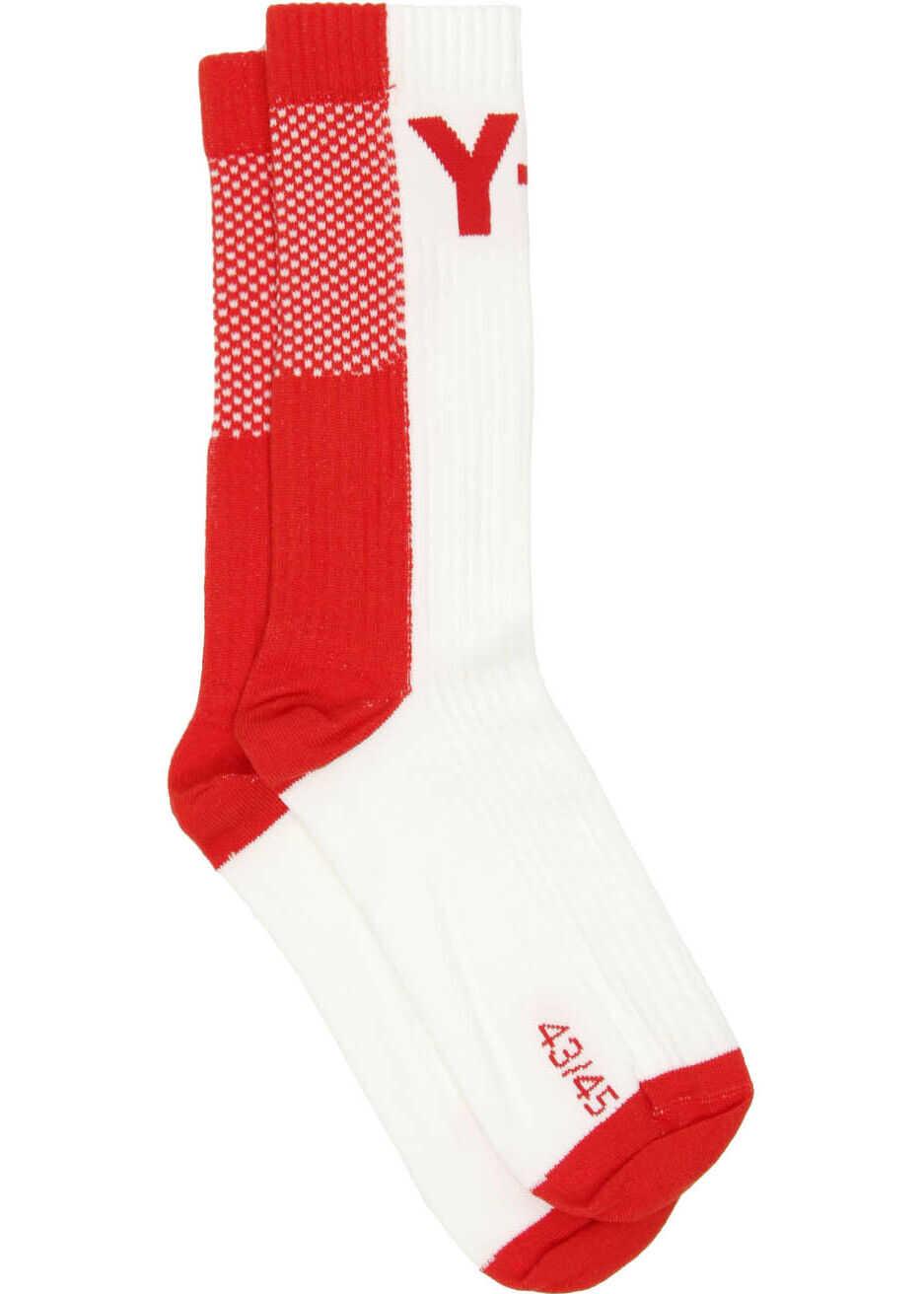 Y-3 Logo Socks RED CORE WHITE