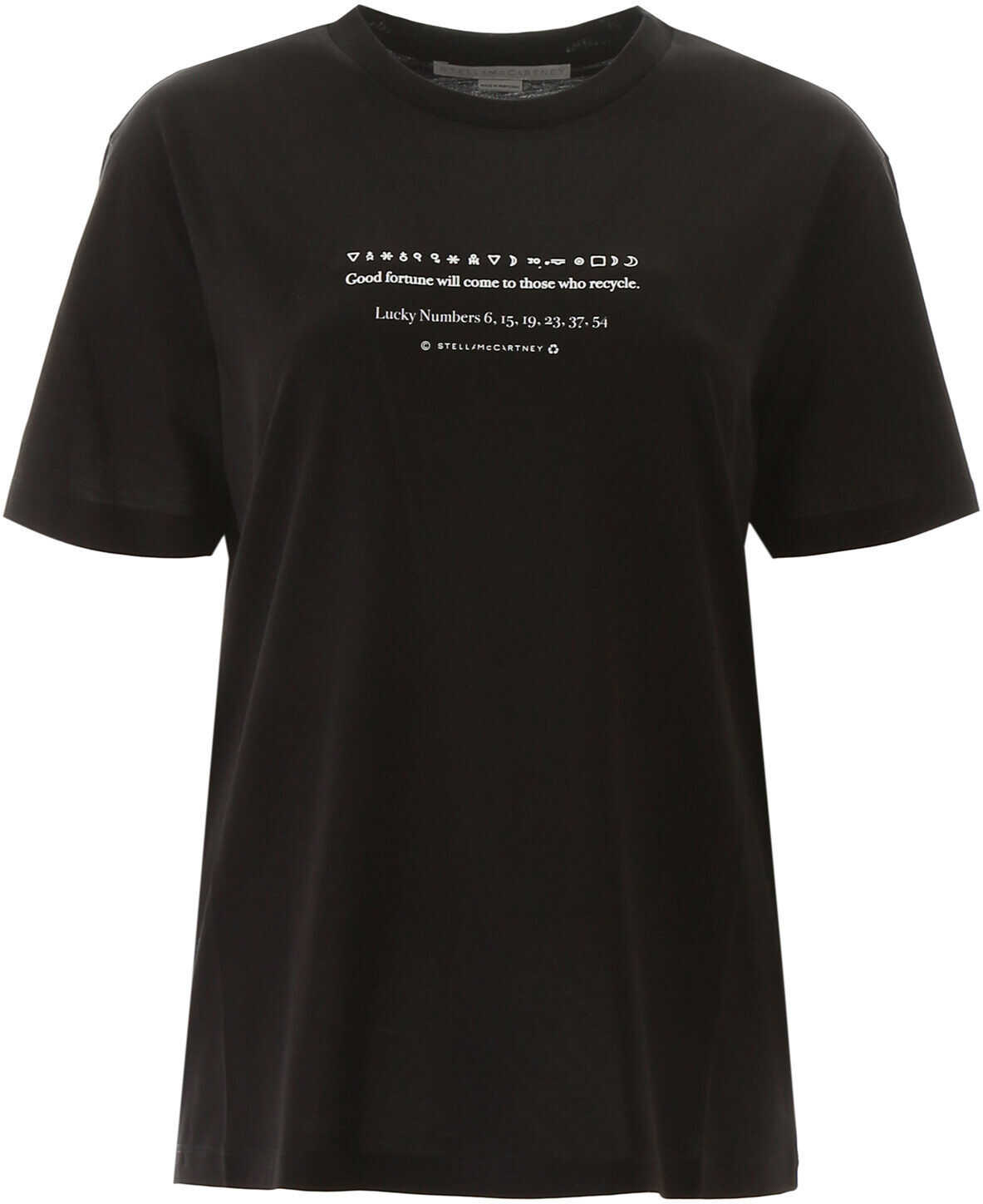 adidas by Stella McCartney Lucky Numbers T-Shirt BLACK