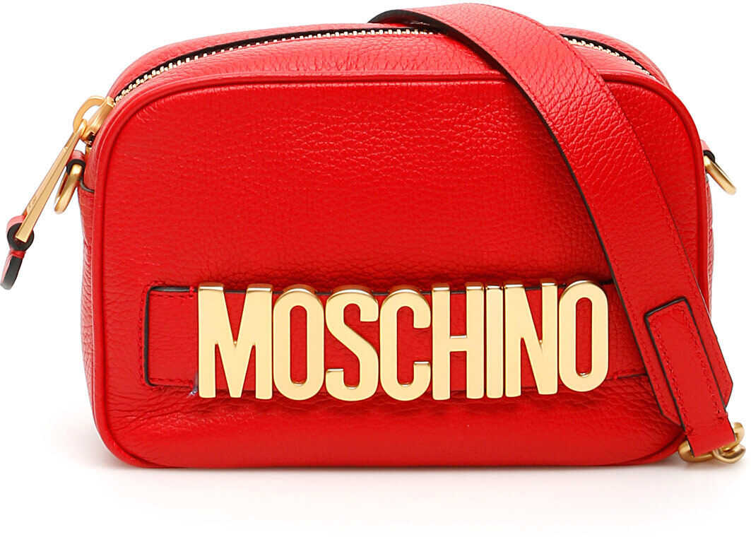 Moschino Camera Bag With Logo ROSSO