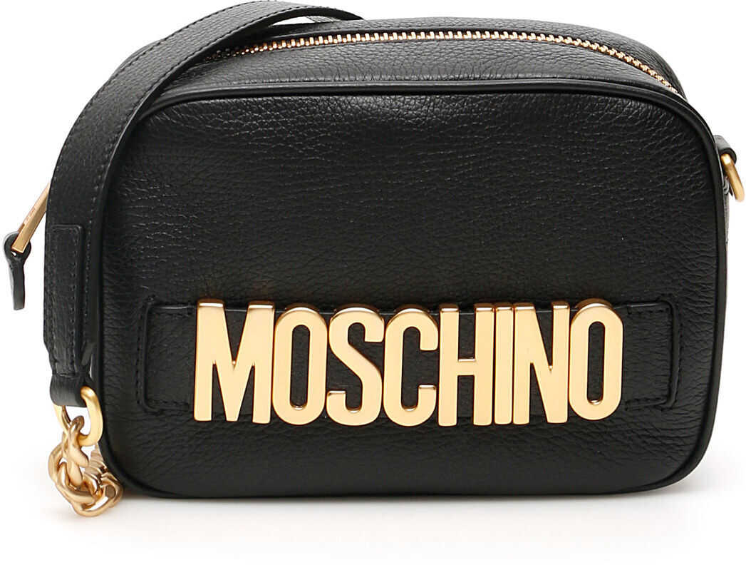 Moschino Camera Bag With Logo BLACK