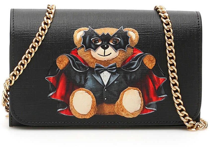 Moschino Bat Teddy Bear Mini Bag FANTASIA NERO