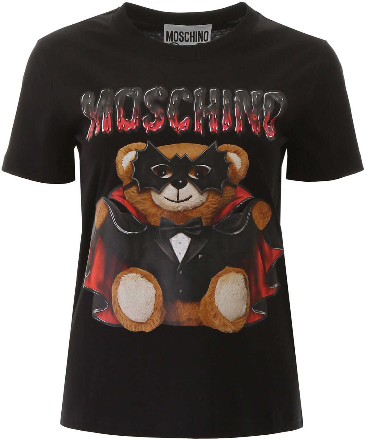 Moschino Bat Teddy Bear T-Shirt FANTASIA NERO