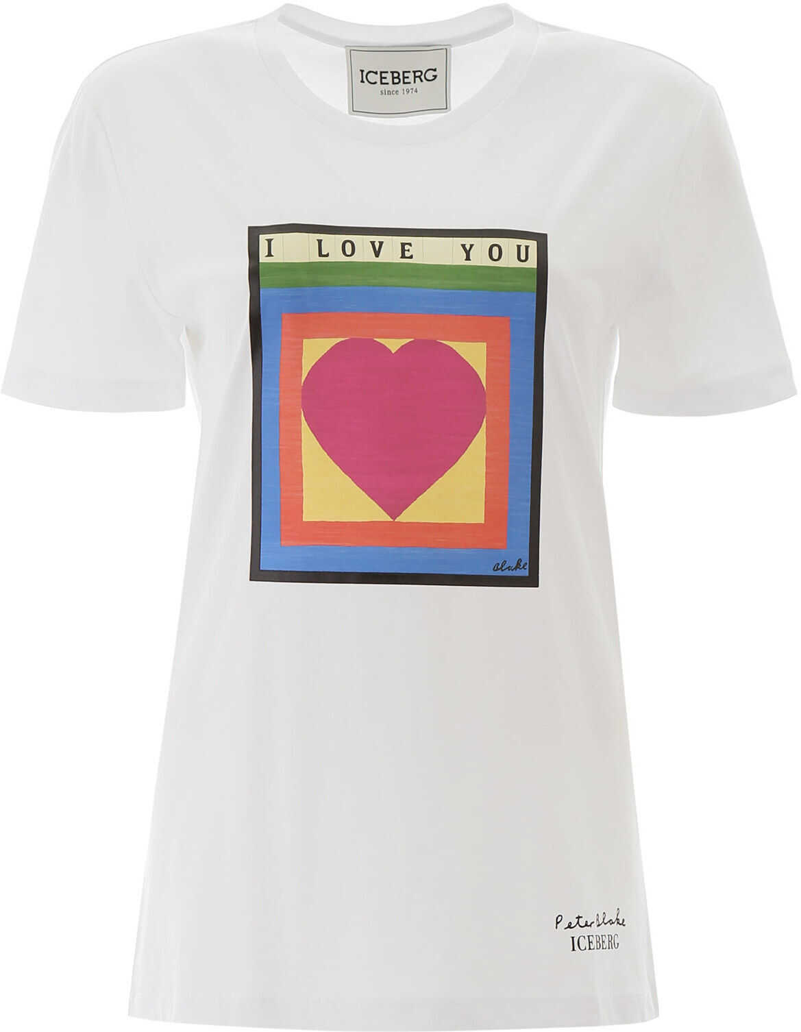 Iceberg I Love You T-Shirt BIANCO OTTICO