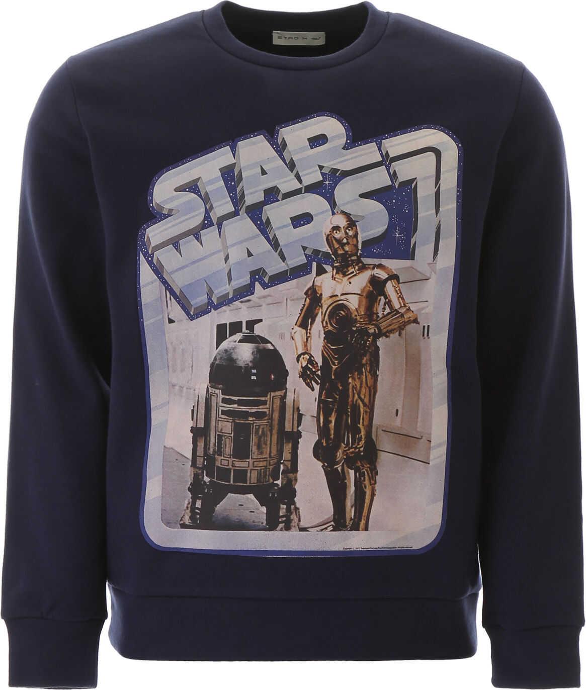 ETRO Star Wars Sweatshirt BLU imagine