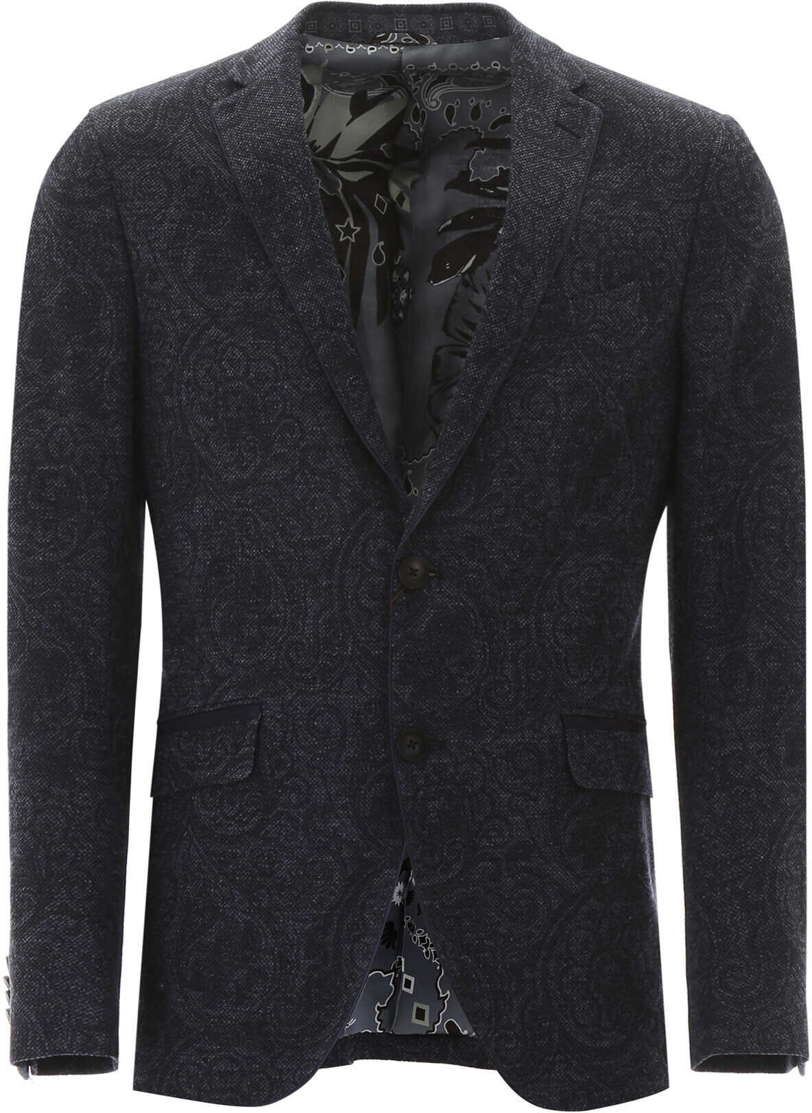 ETRO Paisley Blazer BLU imagine