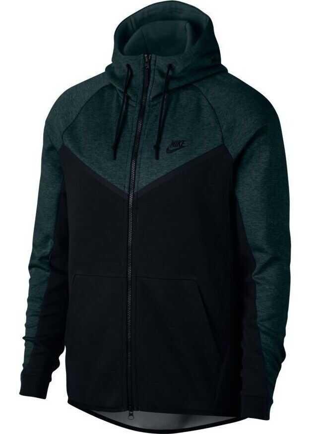 Nike Tech Fleece Windrunner* NEGRE/VERDE