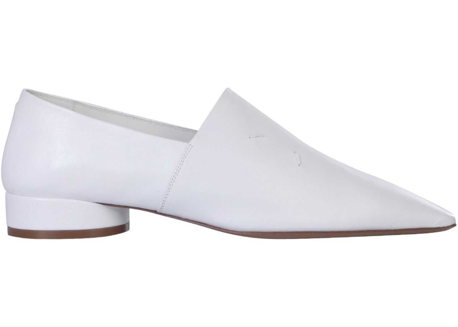 Maison Margiela Leather Loafers WHITE