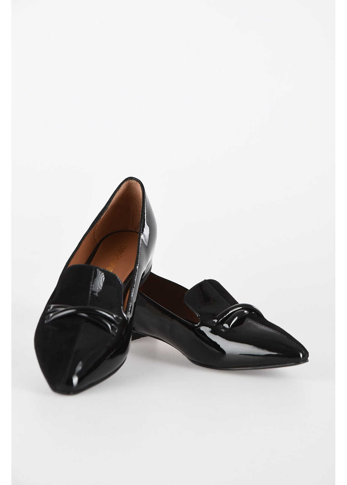 Armani EMPORIO Leather Loafer BLACK