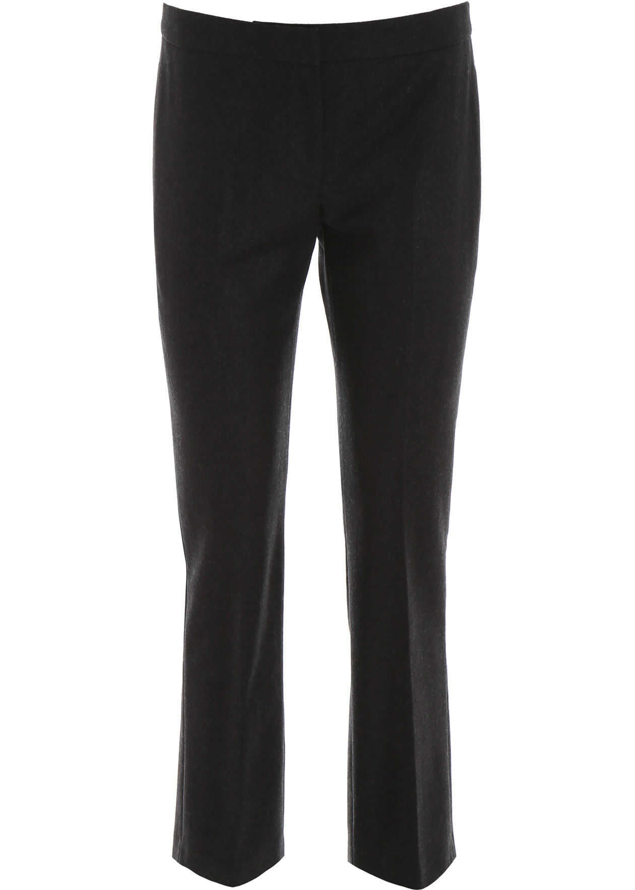 Alexander McQueen Wool Flannel Trousers ANTHRACITE