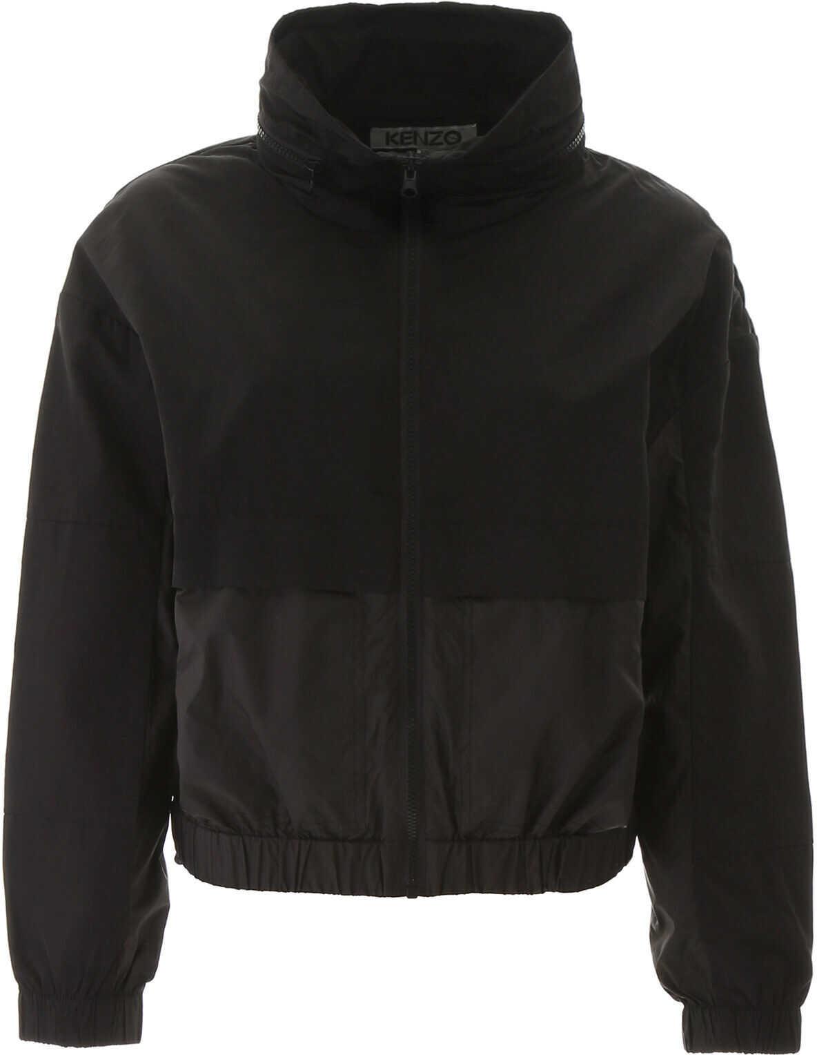 Kenzo Dual Fabric Windbreaker Jacket NOIR
