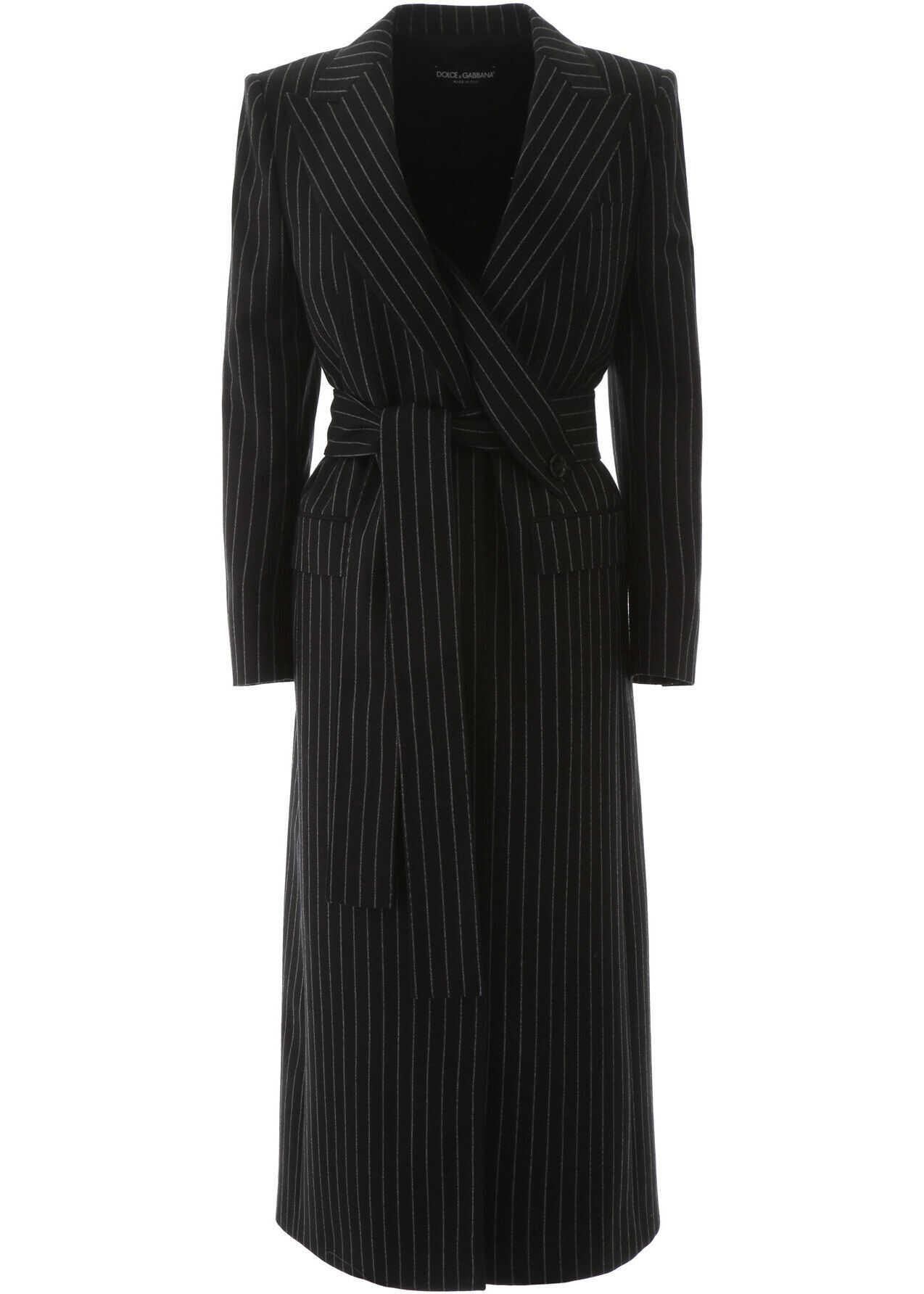 Dolce & Gabbana Pinstripe Wool Coat RIGATO